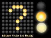 Led Display — Stock Vector