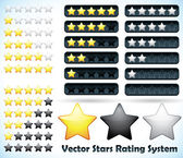 Star Rating System — Stock Vector