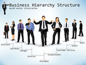 Business Hierarchy Structure — Stock Vector