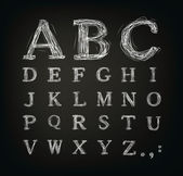Alfabeto rabiscado — Vetorial Stock