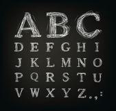 Kritzelte alphabet — Stockvektor