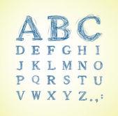 Alfabeto abbozzato — Vettoriale Stock