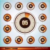 οθόνη χρονόμετρο — Διανυσματικό Αρχείο