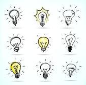 свет лампы — Cтоковый вектор