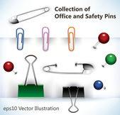 Vector pinnen — Stockvector