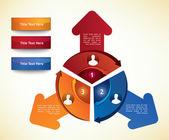 Diagrama de negocios — Vector de stock