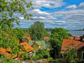 Sigtuna and lake in Sweden — Stock Photo