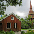 Swedish cabin and bell tower — Foto Stock #10517208