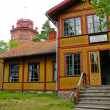 Swedish colored summer house — Stock Photo