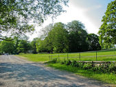 Drottningholm's city park in Stockholm — Stock Photo