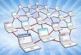 Sociální mediální sítě — Stock fotografie