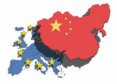 China Overshadows Europe — Stock Photo