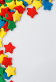 Candy star background — Stock Photo