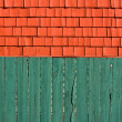Stock Photo: Fence and shingles
