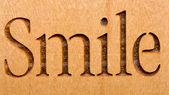 Glimlach teken — Stockfoto