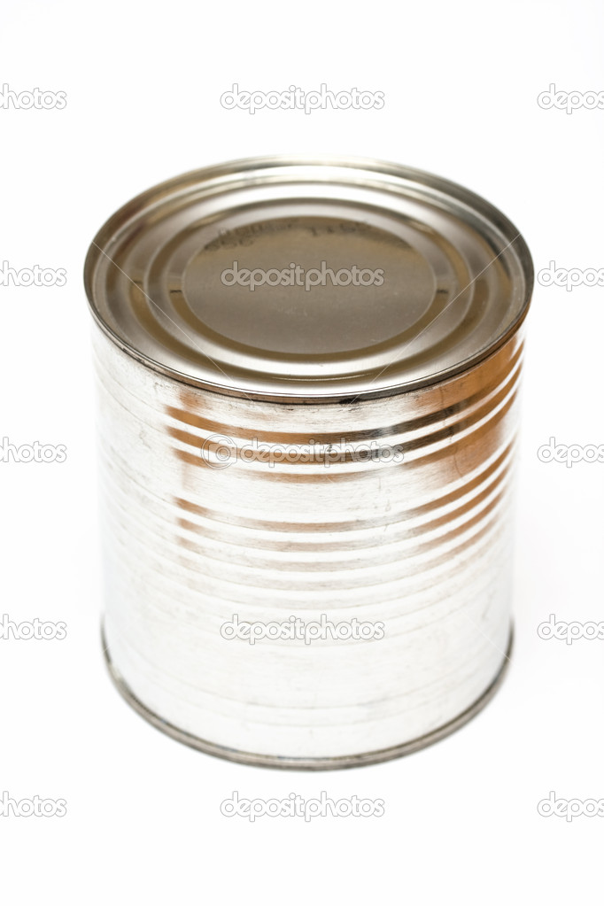 Tin can on white background  Stock Photo #8145431