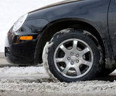 Winter driving conditions — Stock Photo