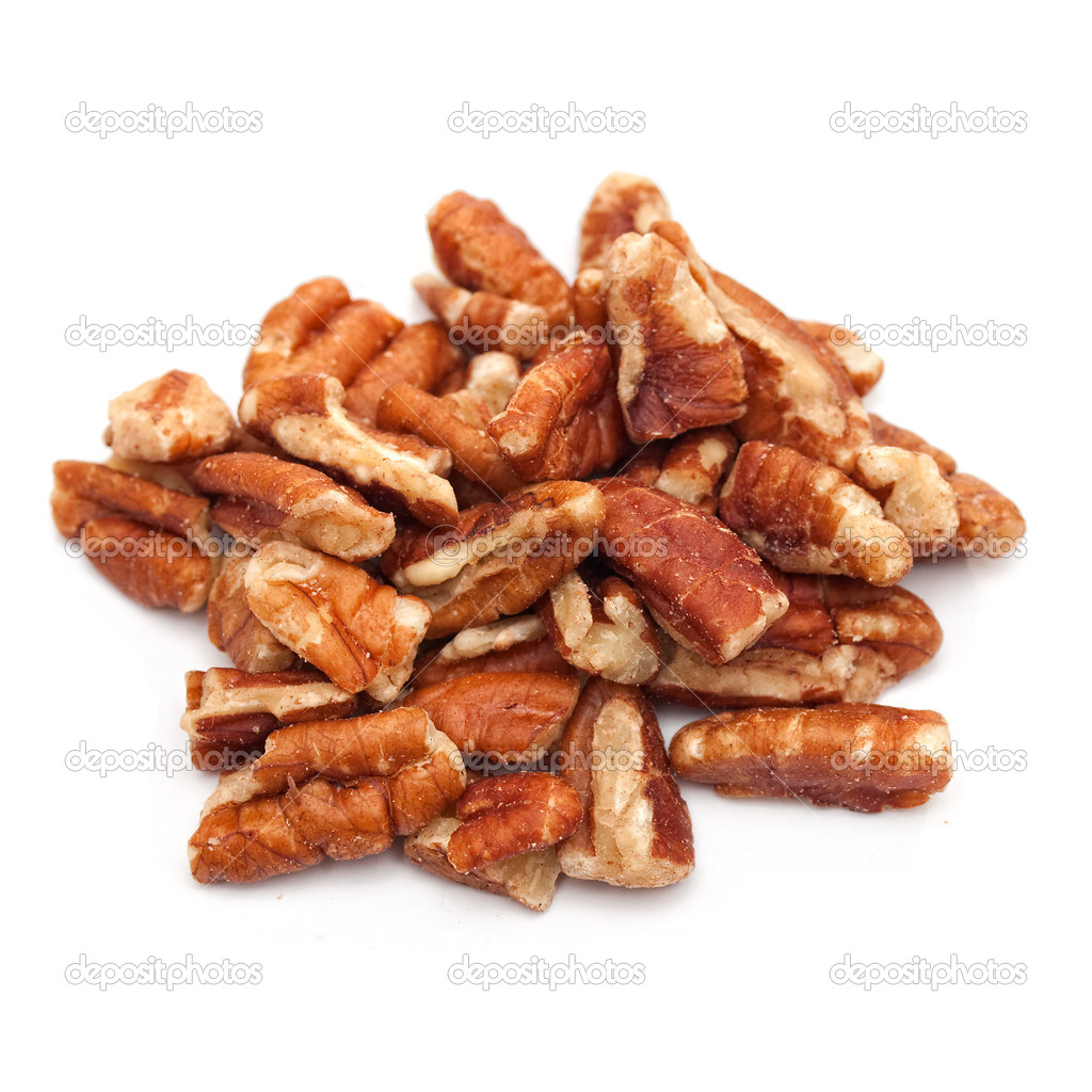Walnuts halved on white background — Stock Photo #8486312