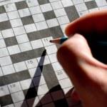 Sunday morning crossword — Stock Photo