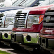 Stock Photo: New truck lot