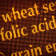 Stock Photo: Folic acid