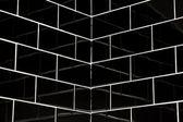 Schwarz u Fliesen — Stockfoto