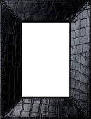 Black leather frame — Stock Photo