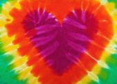 Tie dye heart — Stock Photo