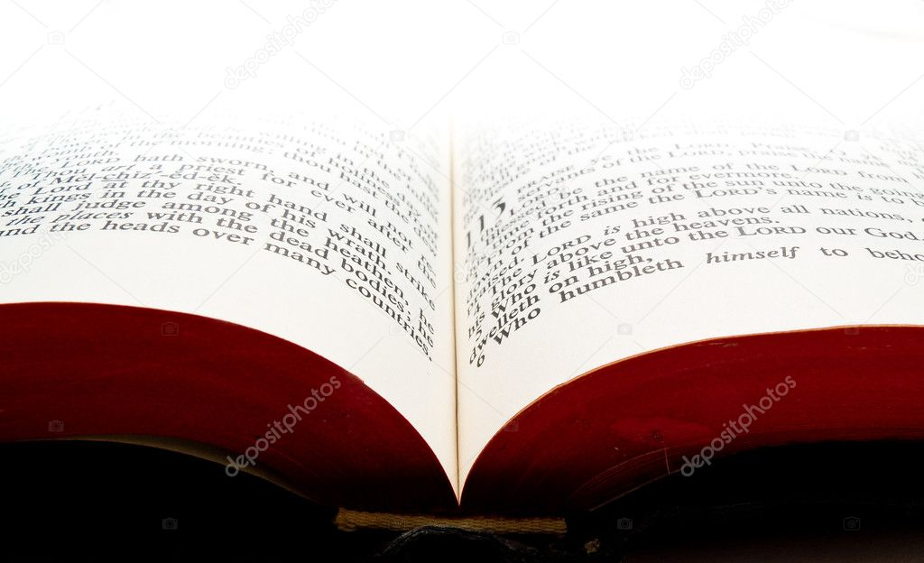 Bible background with open book fading into light — Stock Photo #8861853