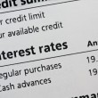 Stock Photo: Credit card interest rates