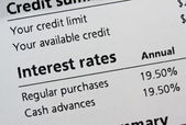 Credit card interest rates — Stock Photo