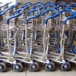 Airport luggage carts — Stock Photo #9344408