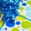 Foto Stock: Birthday present background