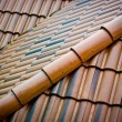 Stock Photo: Ceramic roofing tiles