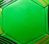 Green soccer ball background — Stock Photo
