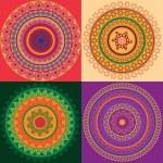 Colorful Henna mandala design — Stock Vector #8669059