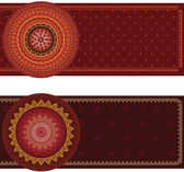 Colorful Henna Mandala Banners — Stock vektor