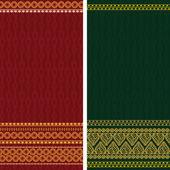 Fronteras de la india sari — Vector de stock