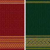 Indian Sari Borders — Stok Vektör