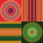 Colorful Henna mandala design — Stock Vector