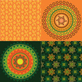 Красочный хны Мандала дизайн — Cтоковый вектор