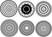 Henna mandala design — Stock Vector
