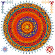 Colorful Henna mandala design — Image vectorielle