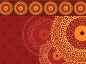 Fond de henné mandala — Vecteur