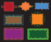 Colourful Henna Frames — Stock Vector