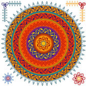 Colorful Henna mandala design — Stock vektor