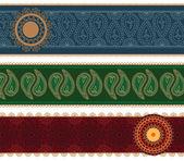 Colorful Henna Mandala Banners — Stock Vector