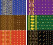 Indian Sari Boders — Stock Vector