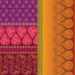 Sari Border Design — Vector de stock #9234360