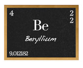 Isolated blackboard with periodic table, Beryllium. — Stock Photo